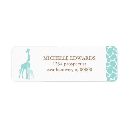 Mom and Baby Giraffe Return Address Return Address Label