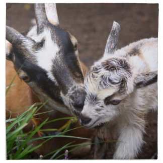 Mom and Baby Goat Printed Napkins