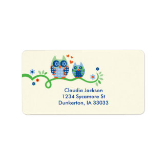 Mom and Baby Owl Custom Label Address Label