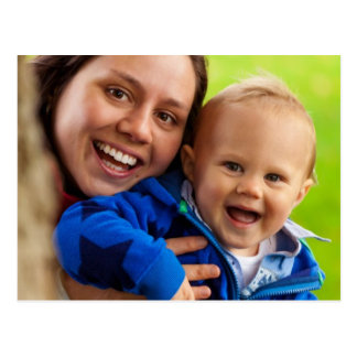 Mom and baby postcard
