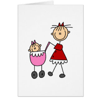 Mom And Baby Stick Figure Card