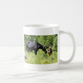 Mom and Calf Moose Mug