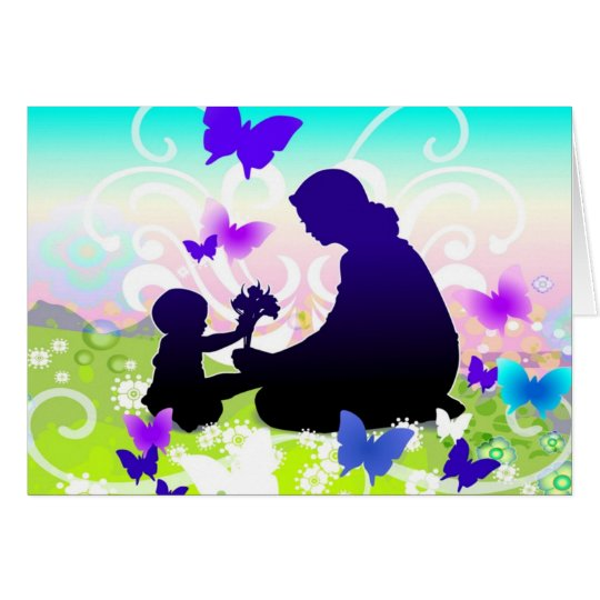Mom and Child Card