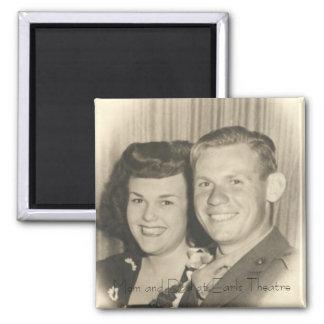Mom and Dad at Earl Carroll Theatre, LA Square Magnet