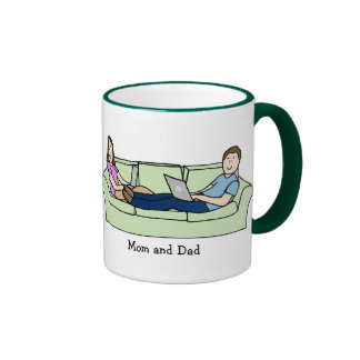 Mom and Dad on couch Coffee Mugs