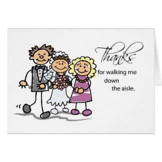 Mom and Dad, Thanks for Walking Down Wedding Aisle Greeting Card