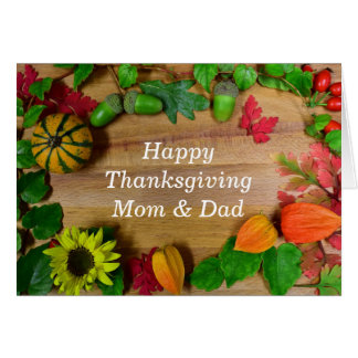 Mom And Dad Thanksgiving Day Card