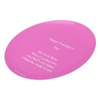 Mom and dad valentine's day plates