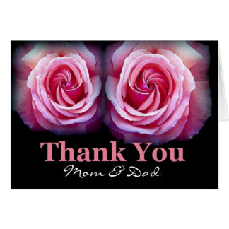 Mom and Dad - Wedding Thank You Greeting Cards