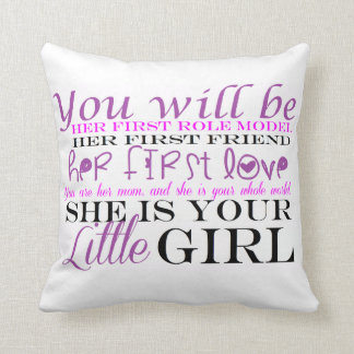 Mom and Daughter: Love Throw Pillow