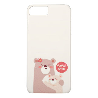 Mom and kid bears - I love Mom iPhone 7 Plus Case