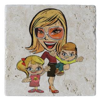 MOM AND KIDS TRIVET