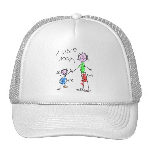 Mom and Me I Love Mom Trucker Hat