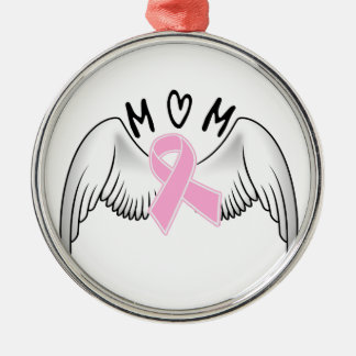 Mom Angel Wings Breast Cancer Awareness Christmas Ornaments