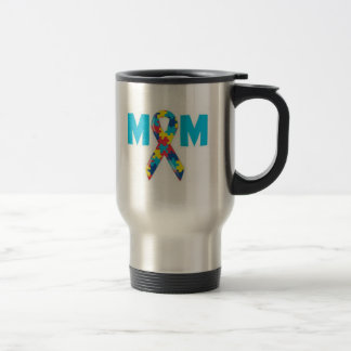 Mom Autism Awareness Travel Mug