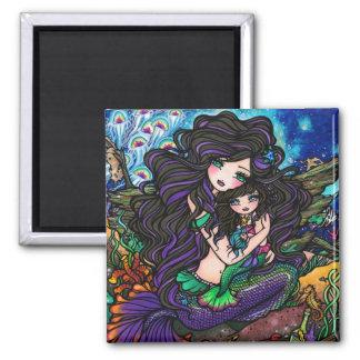 Mom & Baby Mermaid Fantasy Marine Art Hannah Lynn Magnet