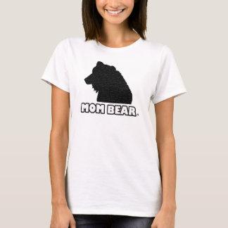 Mom Bear Black-Patterned Mother's T-Shirt