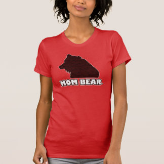 Mom Bear Red-Patterned Mother's T-Shirt
