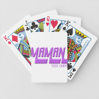 Mom Bicycle Playing Cards