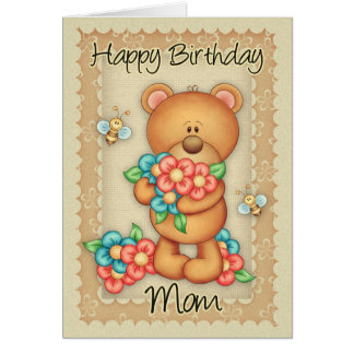 Mom Birthday Card With A Bunch Of Birthday Hugs -