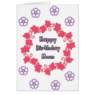 Mom birthday greeting cards flower design
