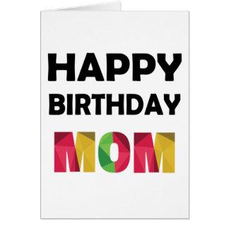 Mom Birthday Greeting Cards Polygonal Design