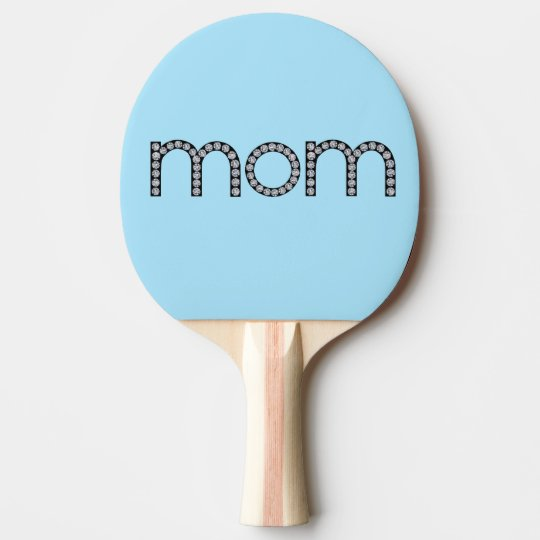 Mom bling ping pong paddle