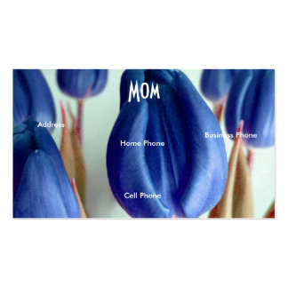 Mom Blue Rosey Tulips Business Card