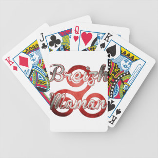 mom Brittany Breizh Bicycle Playing Cards