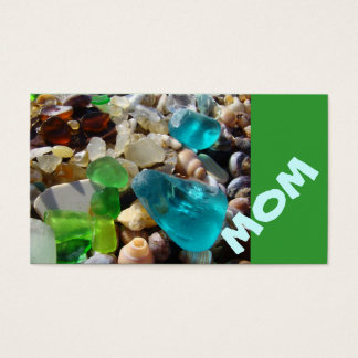 MOM Business Cards Beach Seaglass Agates