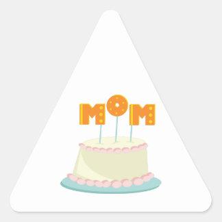 Mom Cake Triangle Sticker