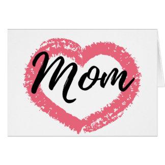 Mom Crayon Heart Card