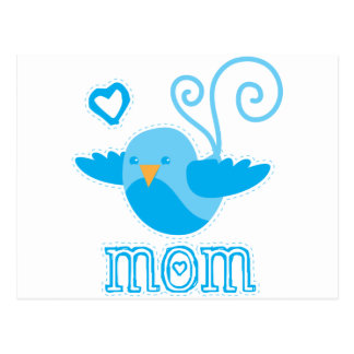 mom cute birdy postcard