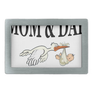 Mom Dad and beautiful son Belt Buckles