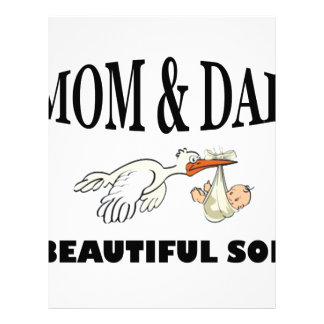 Mom Dad and beautiful son Letterhead