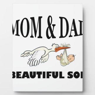 Mom Dad and beautiful son Plaque