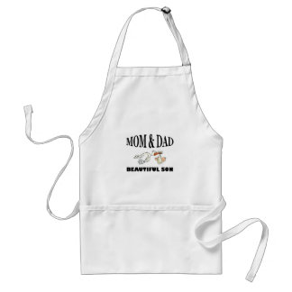 Mom Dad and beautiful son Standard Apron