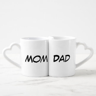 """Mom/Dad"" Nesting Mug Set Couple Mugs"