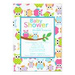 Mom & Dad Owls with Baby Owl Baby Shower Custom Invitation