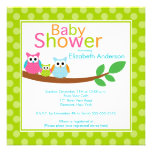 Mom & Dad Owls with Baby Owl Neutral Baby Shower Invite