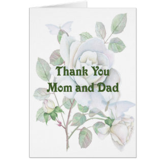Mom & Dad Thank You Card for Helping with Wedding