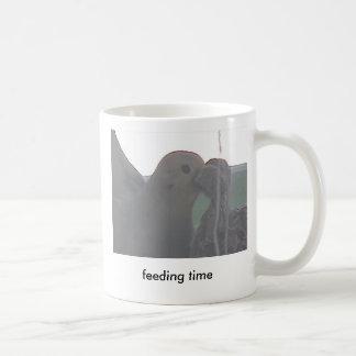 Mom Dove Feeding Twin Babies Basic White Mug