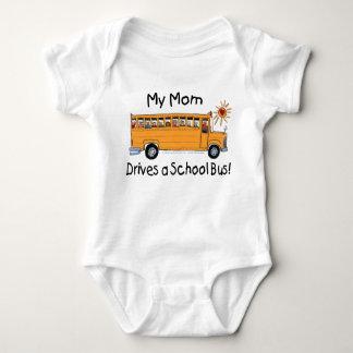 Mom Drives a School Bus Baby Bodysuit