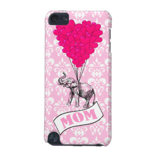 Mom, elephant and heart balloons iPod touch (5th generation) cover