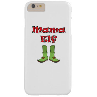 Mom Elf Matching Couple Christmas Barely There iPhone 6 Plus Case