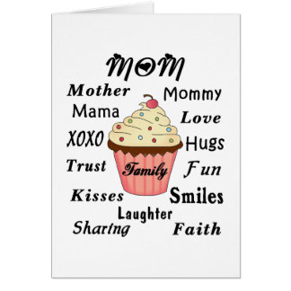 Mom Family Cupcake Note Card