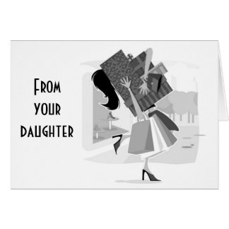MOM-FROM YOUR DAUGHTER=MOTHER'S DAY LOVE GREETING CARD