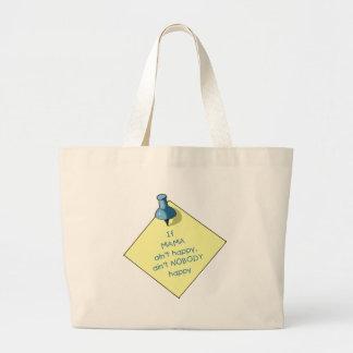 Mom Gift: If Mama Ain't Happy .. Memo, Thumbtack Large Tote Bag