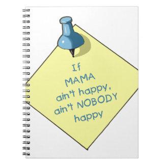Mom Gift: If Mama Ain't Happy .. Memo, Thumbtack Notebooks