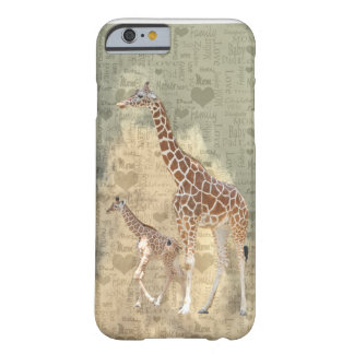 Mom Giraffe and Baby Family iPhone 6 case